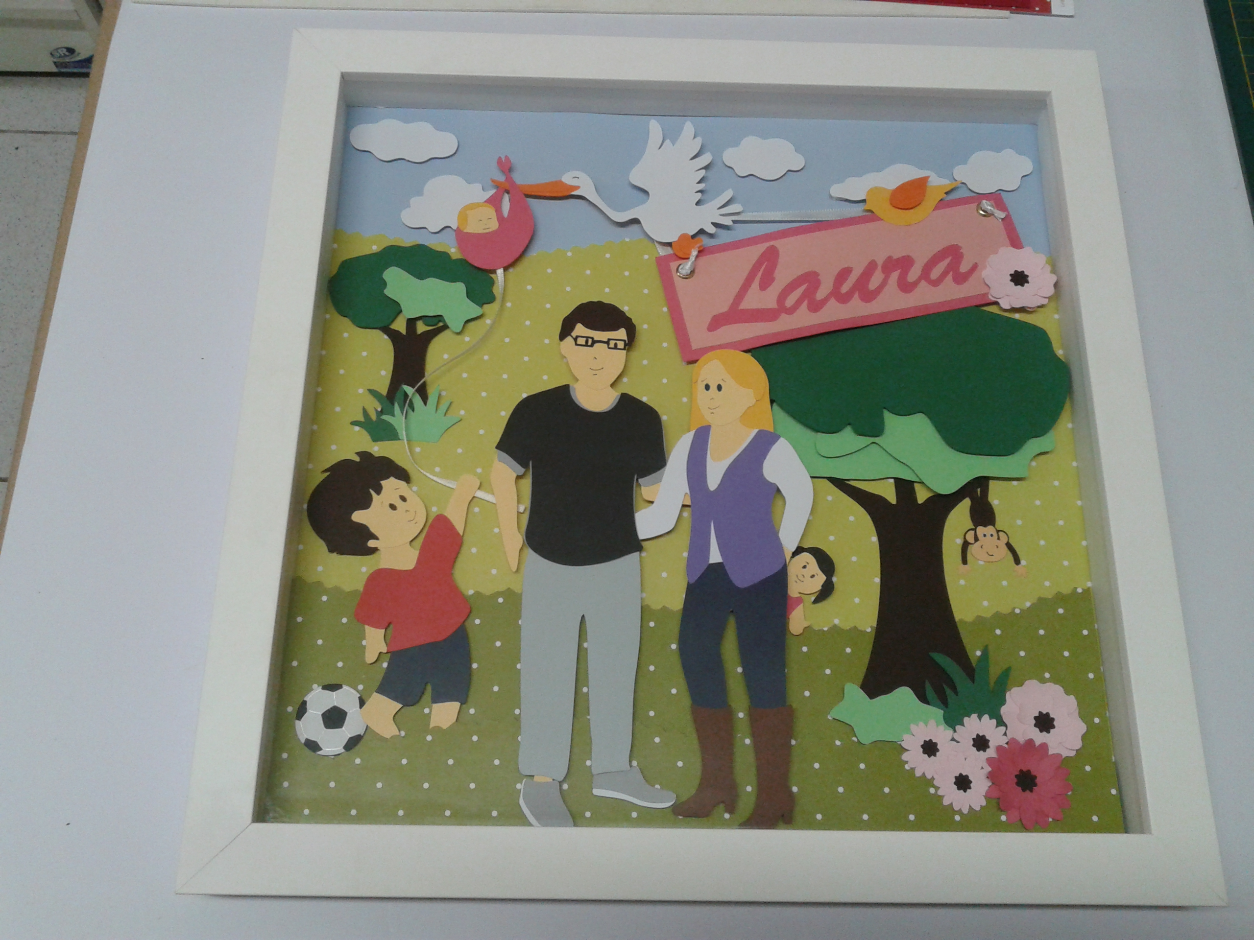 Quadro decorado com Scrapbook