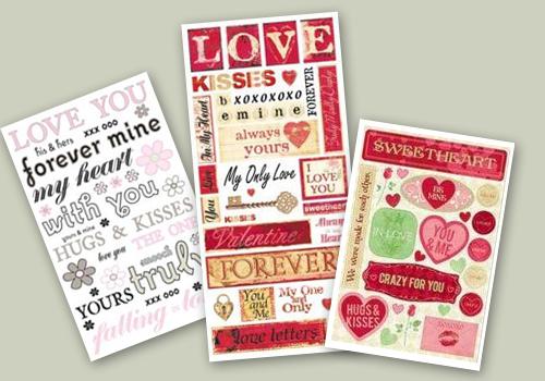 Adesivos para o dia dos Namorados