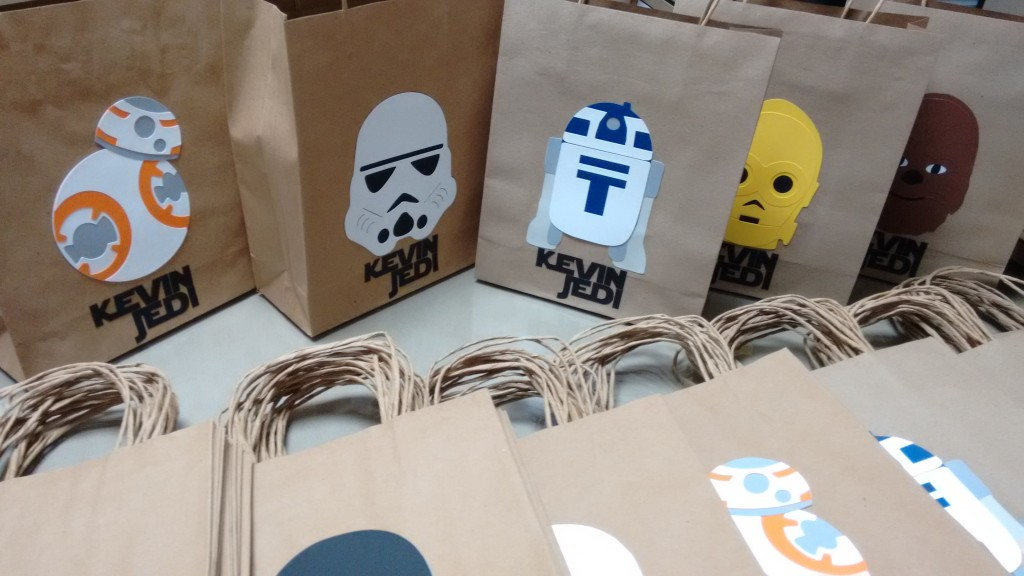 Sacolas decoradas com tema Star Wars